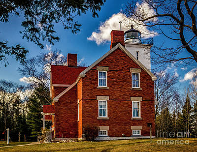 Photograph - Forty Mile Point Light On Lake Huron by Nick Zelinsky