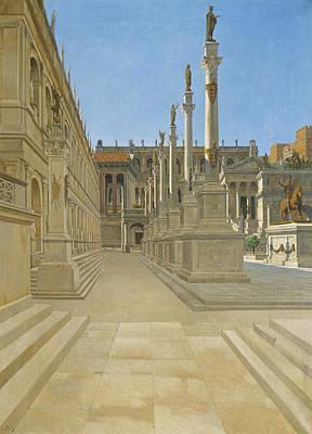 Painting - Forum Romanum by Josef Theodor Hansen