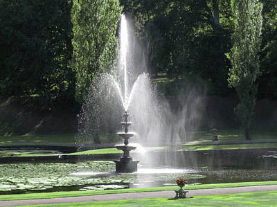 Photograph - Fountain Mist Bicton Devon by Richard Brookes
