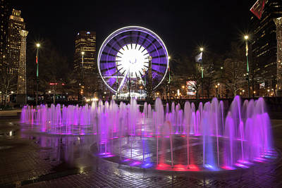 Photograph - Fountain Of Rings In Centennial Olympic Park In Atanta, Ga by Peter Ciro