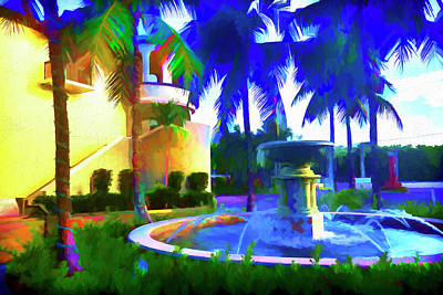 Photograph - Fountain Painting Series 8244 by Carlos Diaz