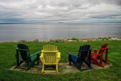 Nova Scotia Wall Art - Photograph - Four Aderondack Chairs by David Smith