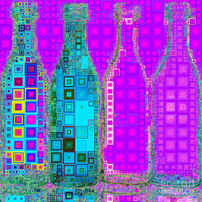 Photograph - Four Bottles In Abstract Squares 20190129av2 by Wingsdomain Art and Photography