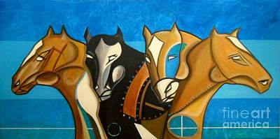 Painting - Four Horse by John Lyes