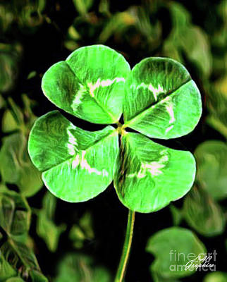 Digital Art - Four Leaf Clover by CAC Graphics