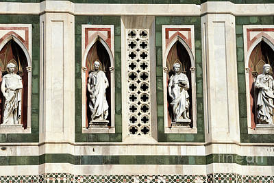 Photograph - Four Prophets By Donatello On Giotto's Campanile Florence by John Rizzuto