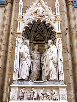 Photograph - Four Saints Coronates At The Orsanmichele In Florence by John Rizzuto