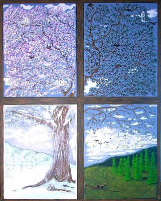 Painting - Four Seasons by John Lyes