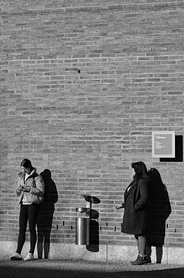 Photograph - Four Shadows In The Lunch Break by Michael Nguyen