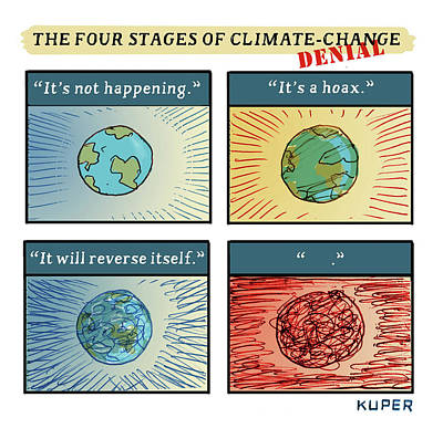 Drawing - Four Stages Of Climate Change by Peter Kuper