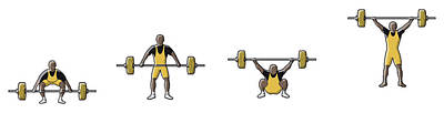 People Digital Art - Four Stages Of Weightlifter Lifting by Dorling Kindersley