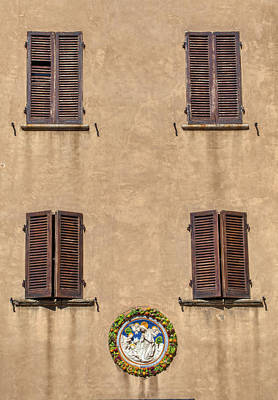 Photograph - Four Windows Of Florence by David Letts