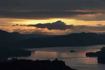 Photograph - Fourth Lake First Light by Brad Wenskoski