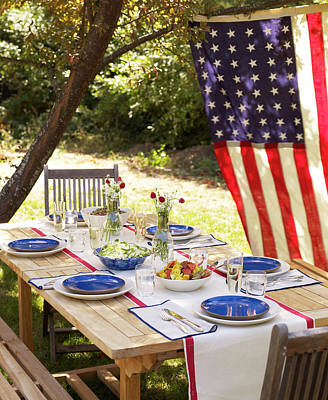 Photograph - Fourth Of July Tablescape by James Baigrie