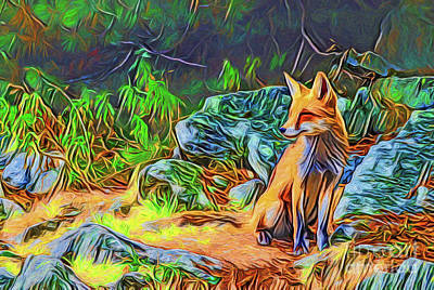 Painting - Fox A18-8 by Ray Shrewsberry