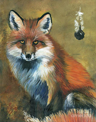 Painting - Fox Shows The Way by J W Baker