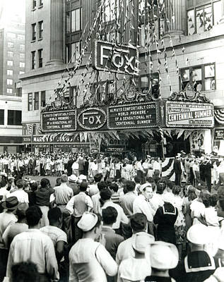 Photograph - Fox Theatre, Philadelphia by Unknown