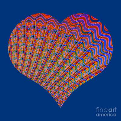 Photograph - Fractal Abstract Heart Love At Sunset by Rose Santuci-Sofranko