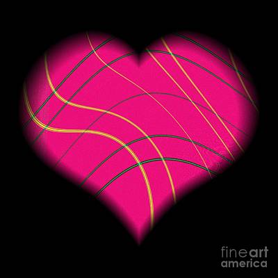 Digital Art - Fractal Abstract Heart On A String Love And Romance by Rose Santuci-Sofranko