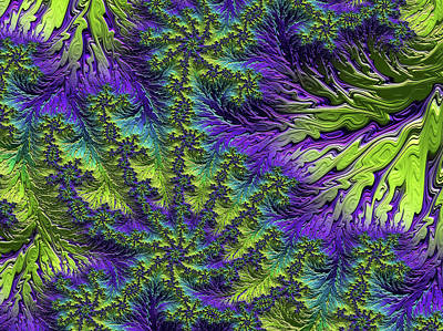 Digital Art - Fractal Jewels Series - Rain Forest Canopy II by Susan Maxwell Schmidt