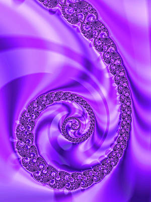 Royalty-Free and Rights-Managed Images - Fractal Spiral violet and orchid by Matthias Hauser