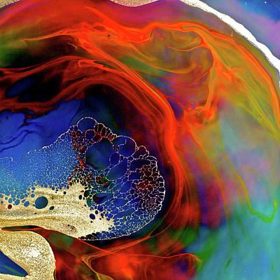 Fragility Photograph - Fragility And Rainbow Flow by Pery Burge