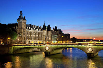 Photograph - France, Paris, Conciergerie And River by Sylvain Sonnet