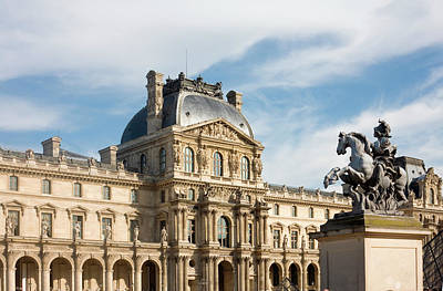 Photograph - France, Paris, Louvre Museum 102009 by Cécile Dégremont