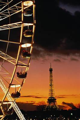 Photograph - France, Paris, Tuileries, Big Wheel by Bruno De Hogues