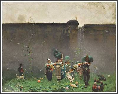 Beers On Tap - Francesco Paolo Michetti  1851-1929 , The Harvest of Pumpkins - 1873 by Celestial Images