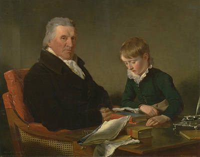 Painting - Francis Noel Clarke Mundy And His Grandson, William Mundy by Ramsay Richard Reinagle