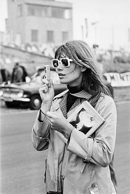 Uk Photograph - Francoise Hardy by Victor Blackman