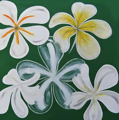 Flower Wall Art - Painting - Frangapanni  by Joan Stratton