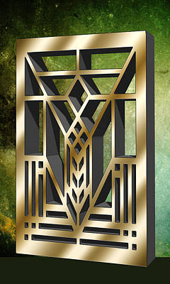 Digital Art - Vertical Design 1 by Chuck Staley