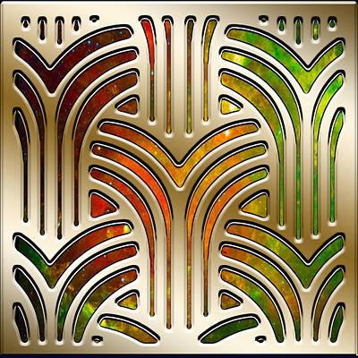 Digital Art - Frank Lloyd Wright Design 3 by Chuck Staley