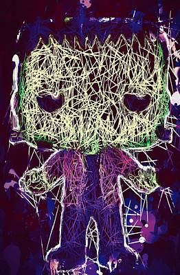 Mixed Media - Frankenstein Pop by Al Matra