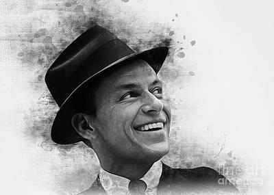 Digital Art - Frank Sinatra Art by Ian Mitchell