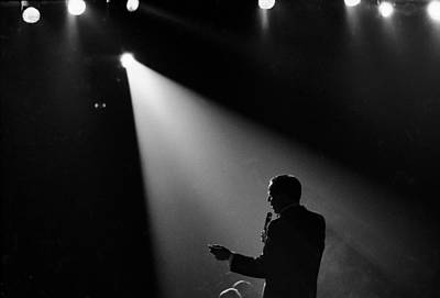 Photograph - Frank Sinatra On Stage by John Dominis