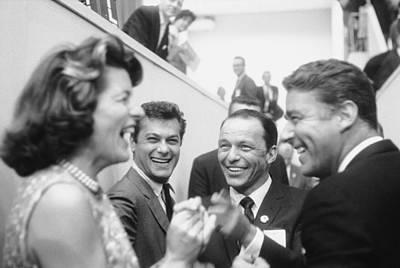 Photograph - Frank Sinatrapeter Lawford & Wifetony by Ed Clark