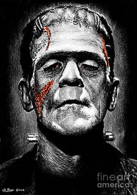 Fantasy Drawings - Frankensteins Monster RS by Andrew Read