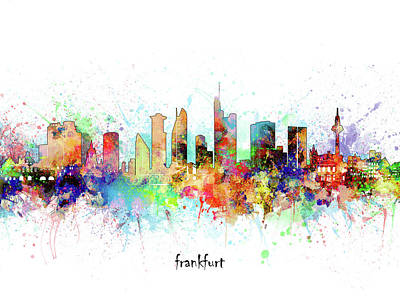 Abstract Skyline Royalty-Free and Rights-Managed Images - Frankfurt Skyline Artistic by Bekim M