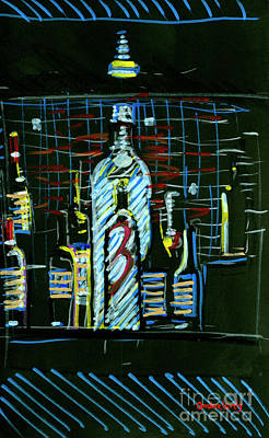 Painting - Frankie Bones Bar Bottles by Candace Lovely
