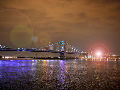 Photograph - Franklin Bridge Flare by Richard Reeve