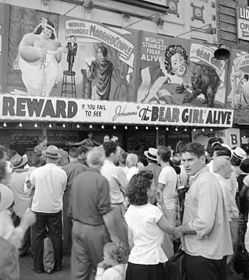 Photograph - Freak Show At Coney Island Holds A by New York Daily News Archive