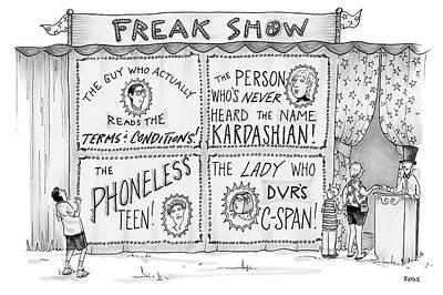Drawing - Freak Show by Teresa Burns Parkhurst