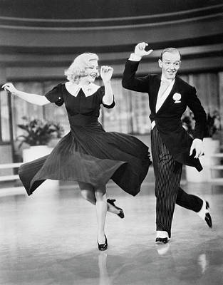 Photograph - Fred Astaire And Ginger Rogers Dancing by Bettmann