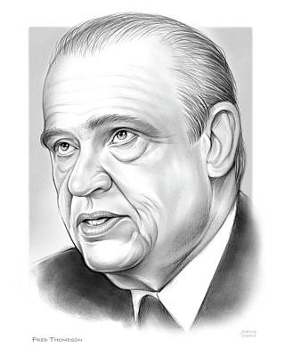 Drawing - Fred Thompson by Greg Joens