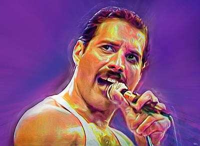 Royalty-Free and Rights-Managed Images - Freddie Mercury at Live Aid by Mal Bray