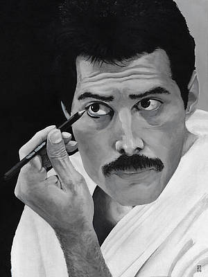 Painting - Freddie Mercury by Matthew Mezo