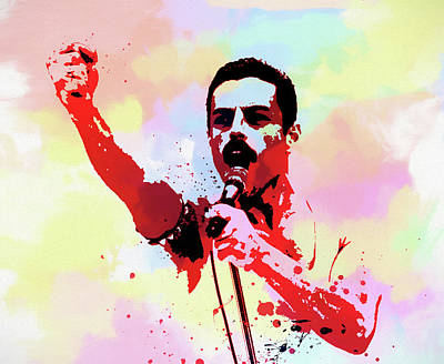 Painting - Freddie Singing Watercolor by Dan Sproul